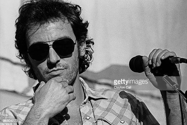 Bruce Springsteen performing at the Amnesty International Concert at the Oakland Coliseum on September 23 1988