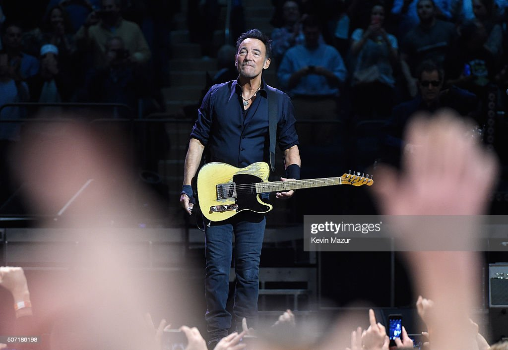 Bruce Springsteen performs at Madison Square Garden on January 27, 2016 in New York City.