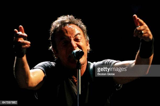 Bruce Springsteen performs at the TD Banknorth Garden in Boston on Apr 21 2009