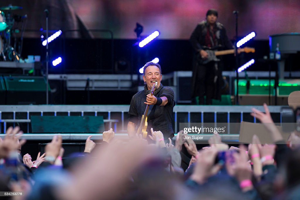 Bruce Springsteen performs at the Etihad Stadium on May 25, 2016 in Manchester, England.