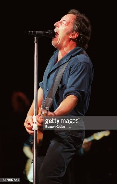 Bruce Springsteen performs at the Fleet Center in Boston on Aug 21 1999