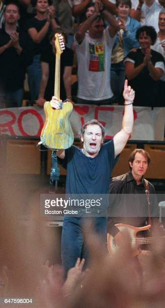 Bruce Springsteen performs at the Fleet Center in Boston on Aug 27 1999