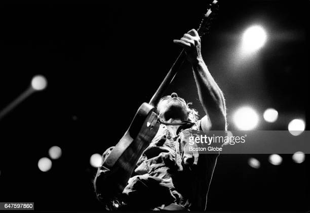 Bruce Springsteen performs at the Providence Civic Center in Providence RI on Jan 24 1985