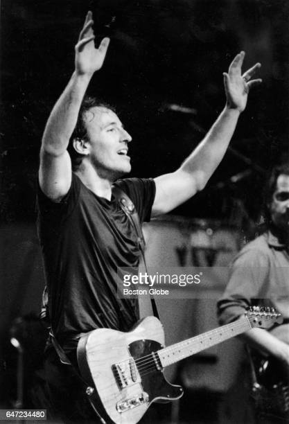 Bruce Springsteen performs at the Worcester Centrum in Worcester MA on Feb 25 1988