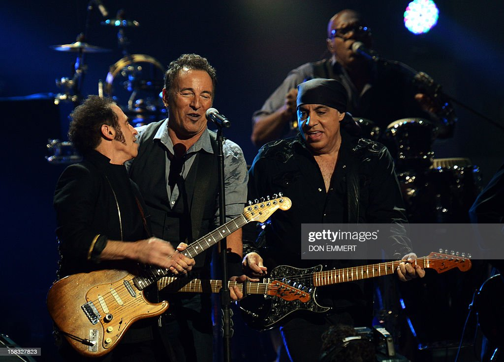 Bruce Springsteen performs during '12-12-12 The Concert For Sandy Relief' December 12, 2012 at Madison Square Garden in New York. AFP PHOTO/DON EMMERT