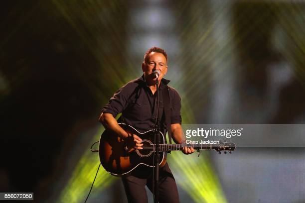 Bruce Springsteen performs during the closing ceremony of the Invictus Games 2017 at Air Canada Centre on September 30 2017 in Toronto Canada