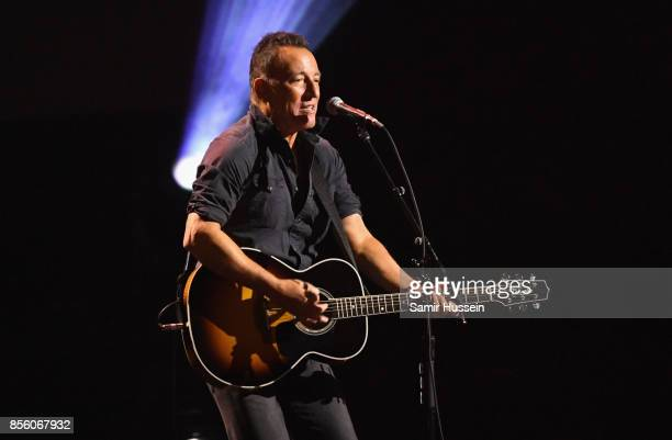 Bruce Springsteen performs on day 8 of the Invictus Games Toronto 2017 on September 30 2017 in Toronto Canada The Games use the power of sport to...