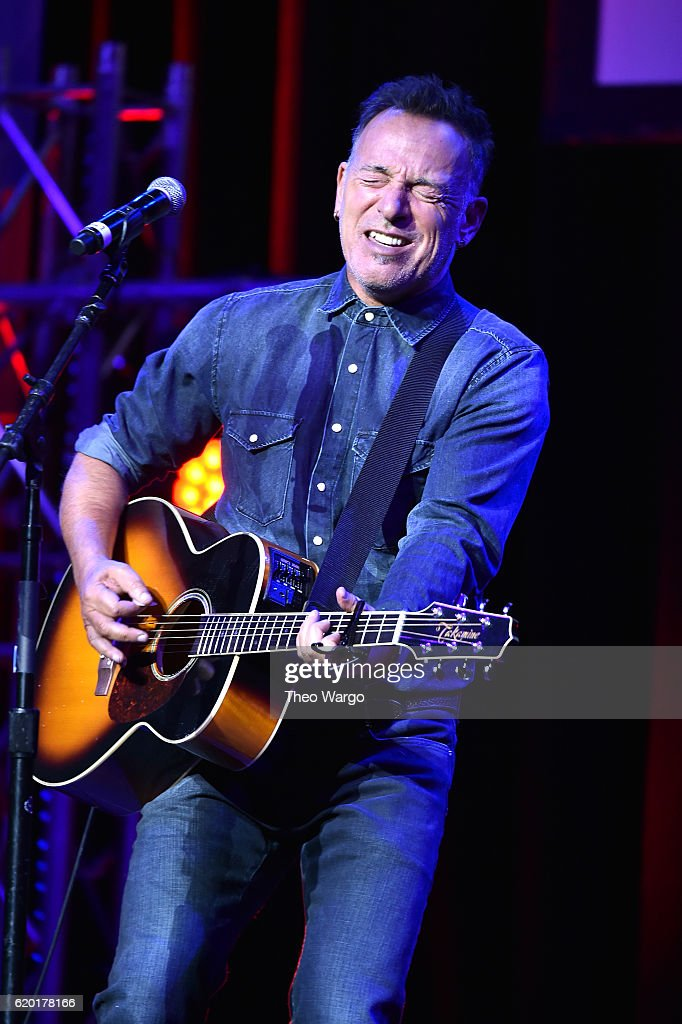 Bruce Springsteen performs on stage during 10th Annual Stand Up For Heroes at The Theater at Madison Square Garden on November 1, 2016 in New York City.
