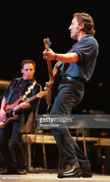 Bruce Springsteen performs with guitarist Nils Lofgren at the Fleet Center in Boston on Aug 21 1999