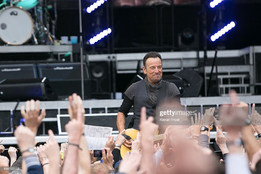 Bruce Springsteen performs with the E Street Band at Croke Park Stadium on May 27, 2016 in Dublin, Ireland.