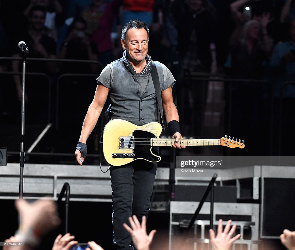 Bruce Springsteen performs with The E Street Band at Madison Square Garden on March 28, 2016 in New York City.