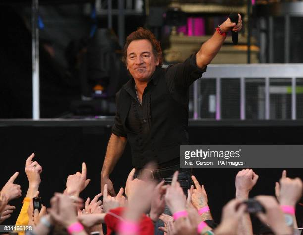 Bruce Springsteen plays the first of three sell out gigs at the RDS in Dublin Ireland