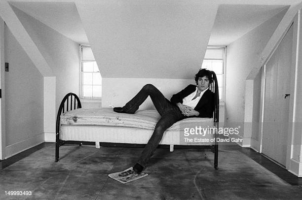 Bruce Springsteen poses for a portrait at home on January 14 1977 in Holmdel New Jersey