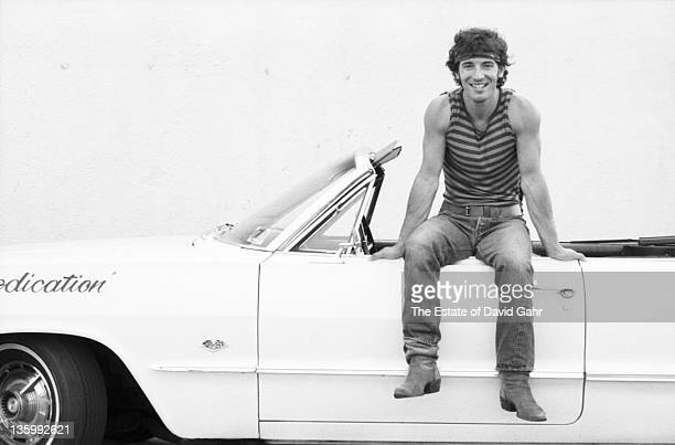 Bruce Springsteen poses for a portrait in June 1984