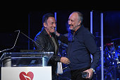 Bruce Springsteen presents Pete Townshend with the Stevie Ray Vaughan Award for his dedication and support of the MusiCares MAP Fund and its...