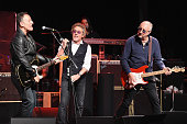 Bruce Springsteen Roger Daltrey and Pete Townshend perform onstage during the MusiCares MAP Fund Benefit Concert at Best Buy Theater on May 28 2015...