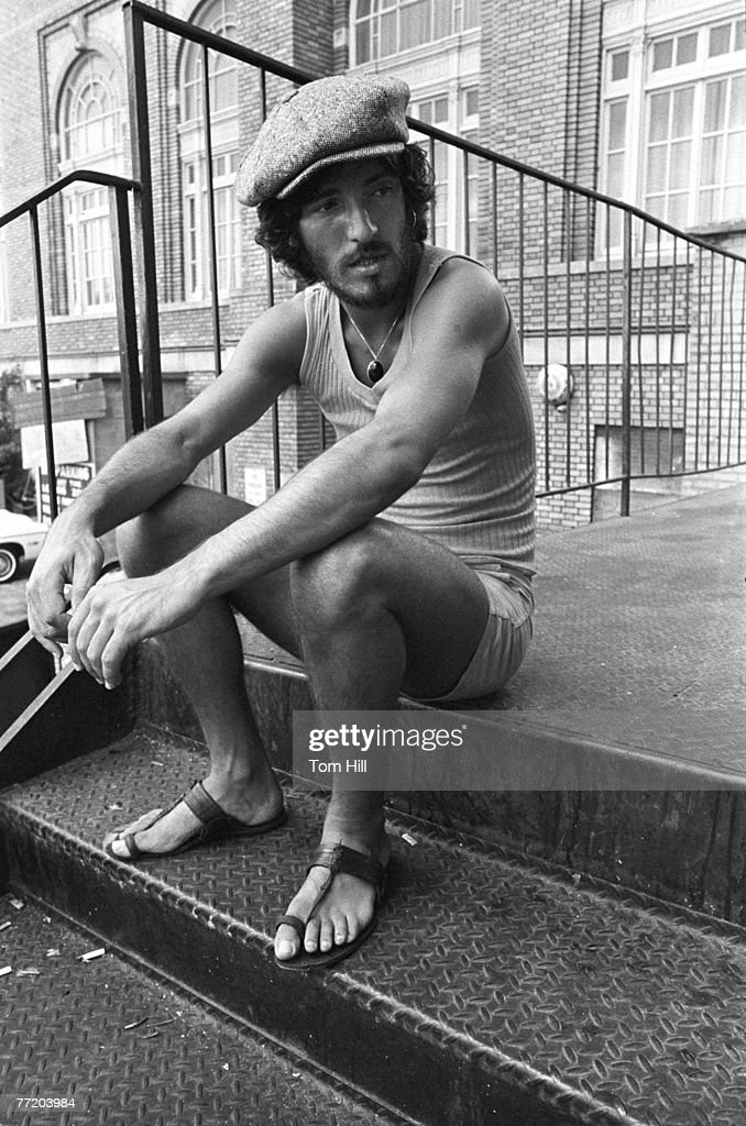 Bruce Springsteen taking a break from the soundcheck at Alex Cooley's Electric Ballroom