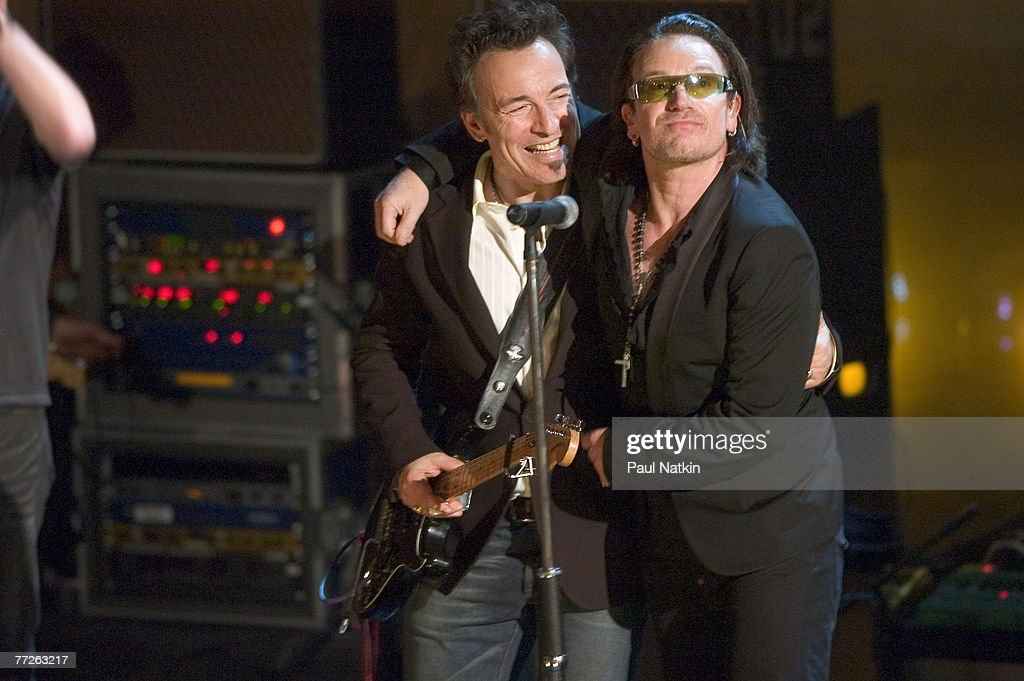 Bruce Springsteen with Bono of U2