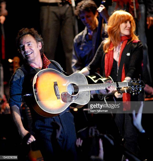 Bruce Springsteen with his wife Patti Scialfa during Bruce Springsteen in Concert at Carling Apollo Hammersmith in London May 8 2006 at Carling...