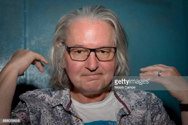 Bruce Sterling poses for a photo during the 30th Turin International Book Fair