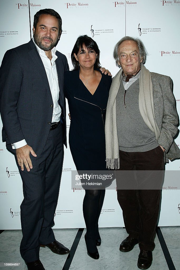 Bruce Toussaint, Valerie Expert and guest attend 'La Petite Maison De Nicole' Inauguration Photocall at Hotel Fouquet's Barriere on January 22, 2013 in Paris, France.
