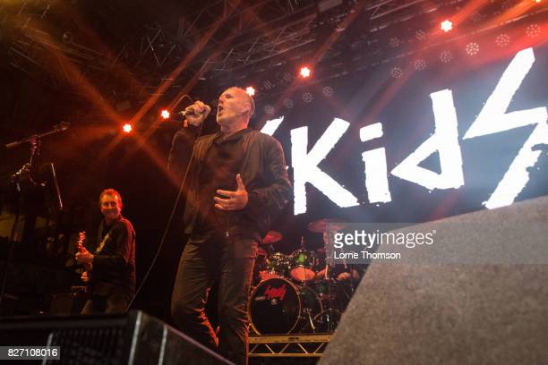Bruce Watson and Richard Jobson of The Skids perform at Rebellion Festival at Winter Gardens on August 6 2017 in Blackpool England