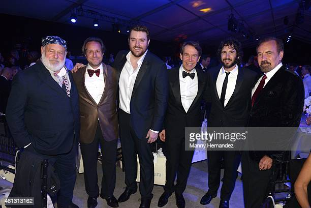 Bruce Weber Paul Lehr Chris Young Jeff Koons Josh Groban and Jorge Perez attend 2015 YoungArts Backyard Ball at YoungArts Campus on January 10 2015...