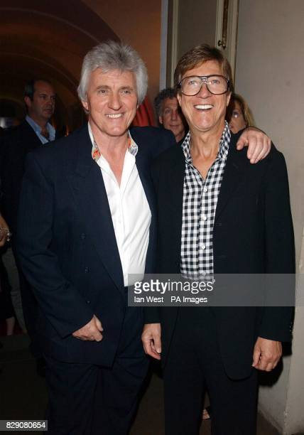 Bruce Welch and Hank Marvin from the Shadows arrive at the MOJO Honours List Award ceremony held at the Banqueting House Whitehall central London The...