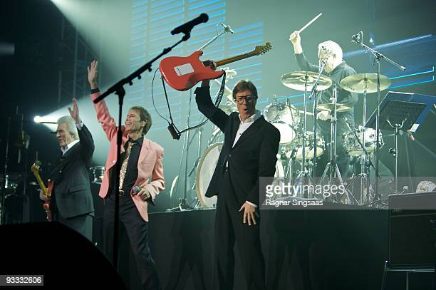 Bruce Welch Cliff Richard and Hank Marvin perform at Oslo Spektrum on November 23 2009 in Oslo Norway