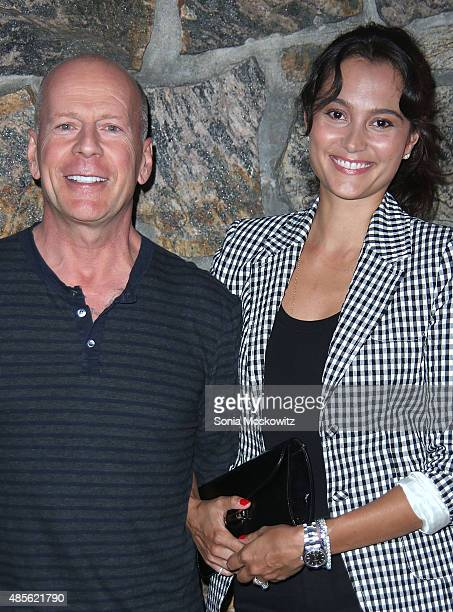 Bruce Willis and Emma Heming attend 'Rock the Kashbah' special screening at UA East Hampton Theater on August 28 2015 in East Hampton New York