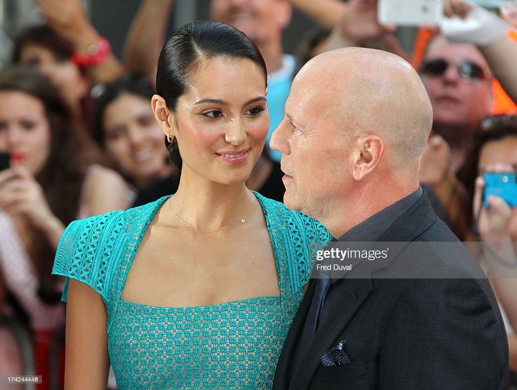 <a gi-track='captionPersonalityLinkClicked' href=/galleries/search?phrase=Bruce+Willis&family=editorial&specificpeople=202185 ng-click='$event.stopPropagation()'>Bruce Willis</a> and <a gi-track='captionPersonalityLinkClicked' href=/galleries/search?phrase=Emma+Heming&family=editorial&specificpeople=734062 ng-click='$event.stopPropagation()'>Emma Heming</a> attend the Red 2 Premiere at Empire Leicester Square on July 22, 2013 in London, England.