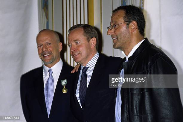 Bruce Willis and Renaud Donnadieu De Vabres and Jean Reno