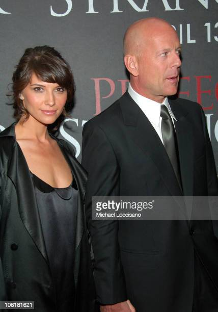 Bruce Willis and Tamara Feldman during 'Perfect Stranger' New York City Premiere Arrivals at Ziegfeld Theater in New York City New York United States