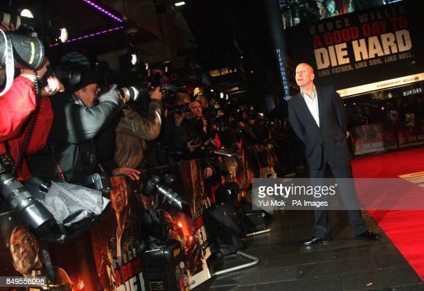 Bruce Willis arriving for the UK film premiere of A Good Day To Die Hard at the Empire Leicester Square in central London