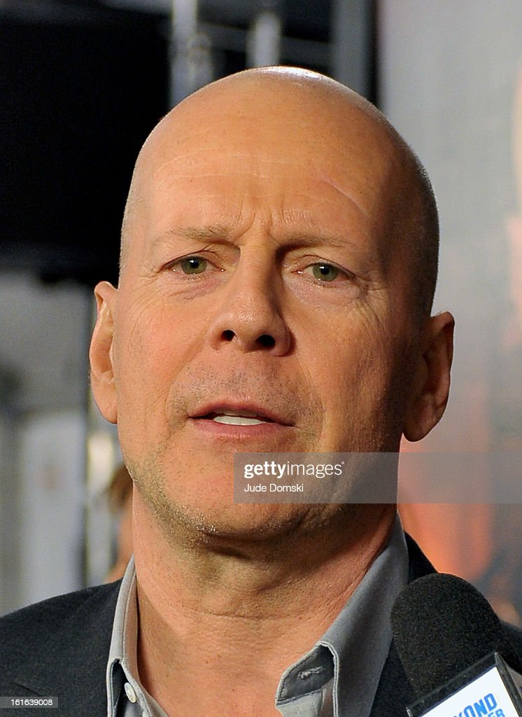 <a gi-track='captionPersonalityLinkClicked' href=/galleries/search?phrase=Bruce+Willis&family=editorial&specificpeople=202185 ng-click='$event.stopPropagation()'>Bruce Willis</a> attends 'A Good Day To Die' New York Fan Event at AMC Empire on February 13, 2013 in New York City.
