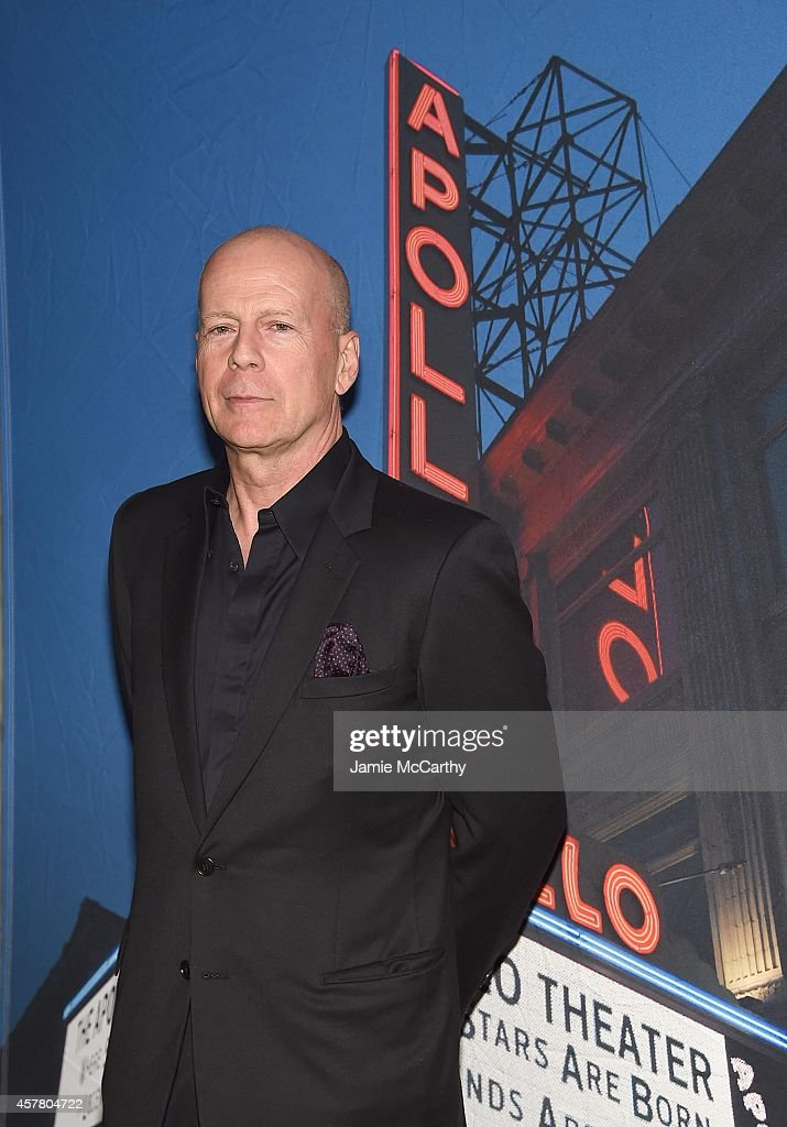 <a gi-track='captionPersonalityLinkClicked' href=/galleries/search?phrase=Bruce+Willis&family=editorial&specificpeople=202185 ng-click='$event.stopPropagation()'>Bruce Willis</a> attends the 13th Annual A Great Night In Harlem Gala Benefiting The Jazz Musicians Emergency Fund at The Apollo Theater on October 24, 2014 in New York City.