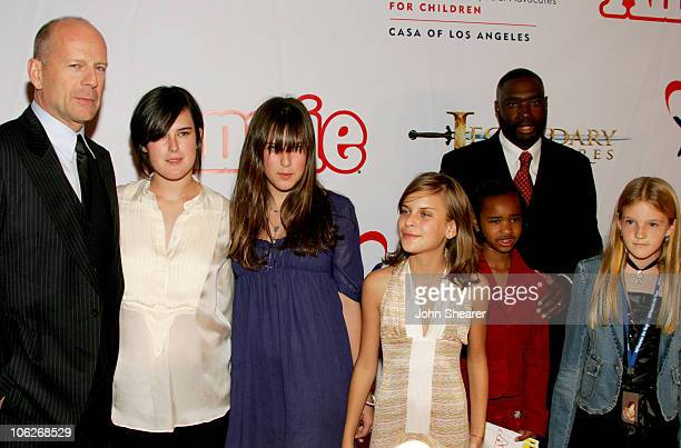 Bruce Willis daughters Rumer Tallulah Belle and Scout Larue Antwone Fisher and guest