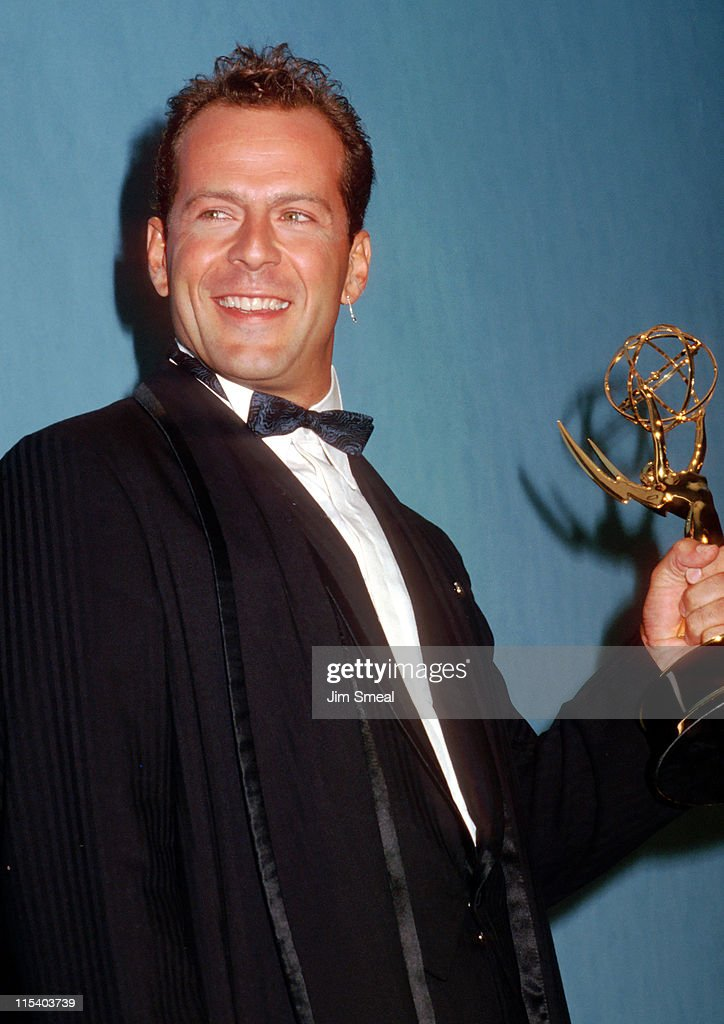 <a gi-track='captionPersonalityLinkClicked' href=/galleries/search?phrase=Bruce+Willis&family=editorial&specificpeople=202185 ng-click='$event.stopPropagation()'>Bruce Willis</a> during 39th Annual Emmy Awards - September 20, 1987 at Pasadena Civic Auditorium in Pasadena, California, United States.
