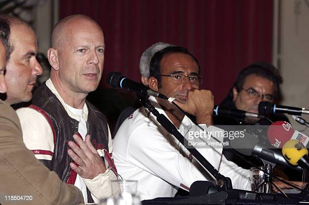 Bruce Willis during a press conference at the Miss Italia 2005 beauty contest in Salsomaggiore Italy Sunday Sept 18 2005 Willis will preside the jury...