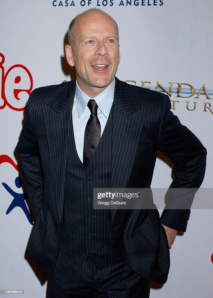 <a gi-track='captionPersonalityLinkClicked' href=/galleries/search?phrase=Bruce+Willis&family=editorial&specificpeople=202185 ng-click='$event.stopPropagation()'>Bruce Willis</a> during 'Annie' Opening Night to Benefit CASA of Los Angeles - Arrivals at Pantages Theatre in Hollywood, California, United States.