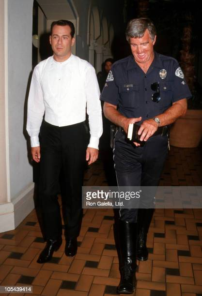 Bruce Willis during Bruce Willis on the Set of 'Sunset' June 10 1987 at Roosevelt Hotel in Hollywood California United States