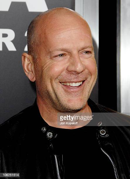 Bruce Willis during 'Rocky Balboa' World Premiere Arrivals at Chinese Theatre in Hollywood California United States