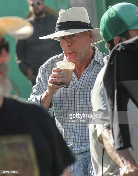 Bruce Willis is seen filming 'Going Under' in Venice on July 30 2015 in Los Angeles California