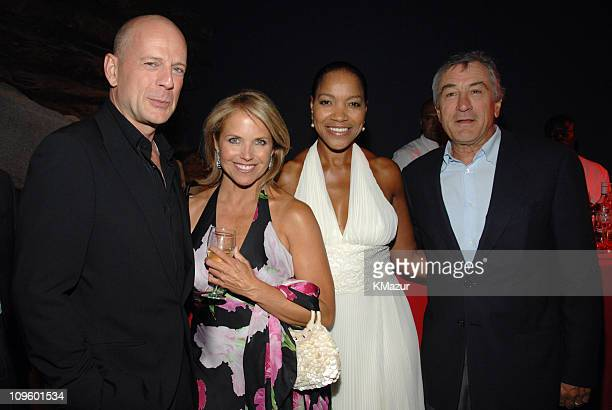 Bruce Willis Katie Couric Grace Hightower and Robert De Niro