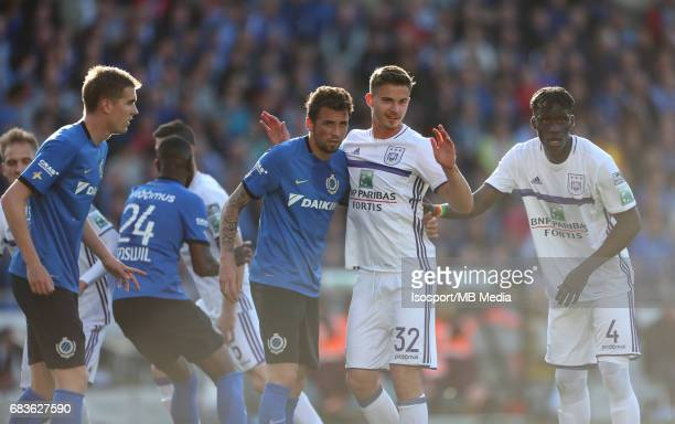 20170514 Bruges Belgium / Club Brugge v Rsc Anderlecht / CLAUDEMIR Leander DENDONCKER Kara MBODJI Jupiler Pro League PlayOff 1 Matchday 8 at the Jan...