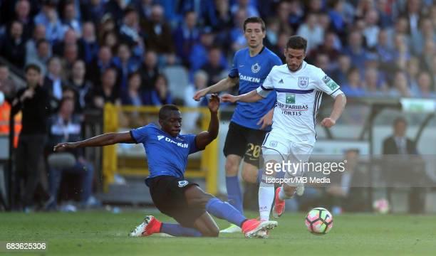 20170514 Bruges Belgium / Club Brugge v Rsc Anderlecht / Helibelton PALACIOS Alexandru CHIPCIU Jupiler Pro League PlayOff 1 Matchday 8 at the Jan...