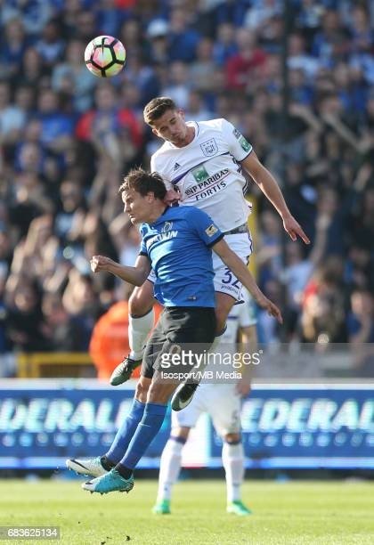 20170514 Bruges Belgium / Club Brugge v Rsc Anderlecht / Jelle VOSSEN Leander DENDONCKER Jupiler Pro League PlayOff 1 Matchday 8 at the Jan Breydel...