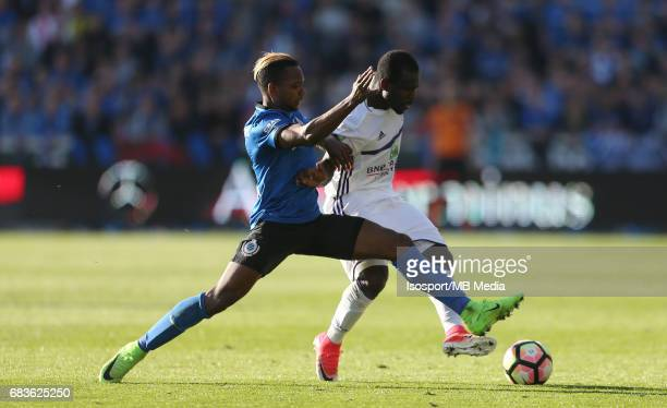 20170514 Bruges Belgium / Club Brugge v Rsc Anderlecht / Jose IZQUIERDO Frank ACHEAMPONG Jupiler Pro League PlayOff 1 Matchday 8 at the Jan Breydel...