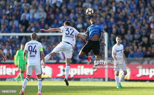 20170514 Bruges Belgium / Club Brugge v Rsc Anderlecht / Leander DENDONCKER Stefano DENSWIL Jupiler Pro League PlayOff 1 Matchday 8 at the Jan...