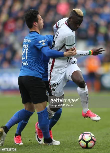 20170501 Bruges Belgium / Club Brugge v Zulte Waregem 'nDion COOLS Babacar GUEYE'nJupiler Pro League PlayOff 1 Matchday 6 at the Jan Breydel stadium...